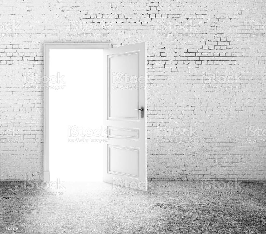 open door in room stock photo