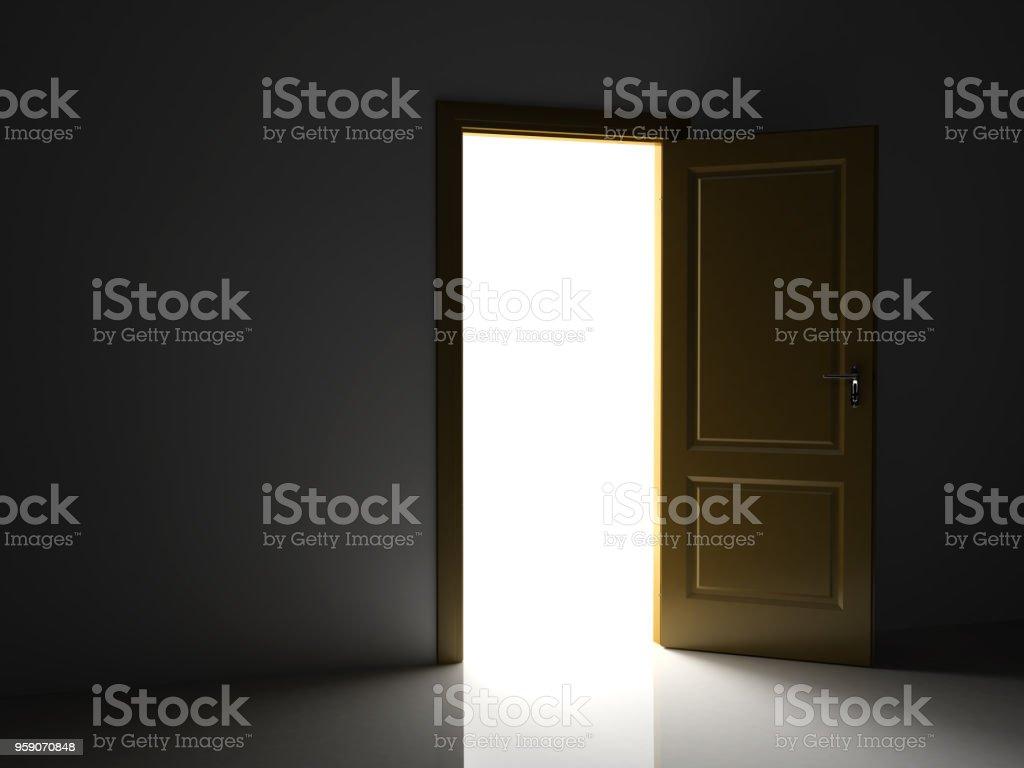 Open door dark Vector Open Door In The Dark In Which You Can See Light Royaltyfree Fotolia Open Door In The Dark In Which You Can See Light Stock Photo More
