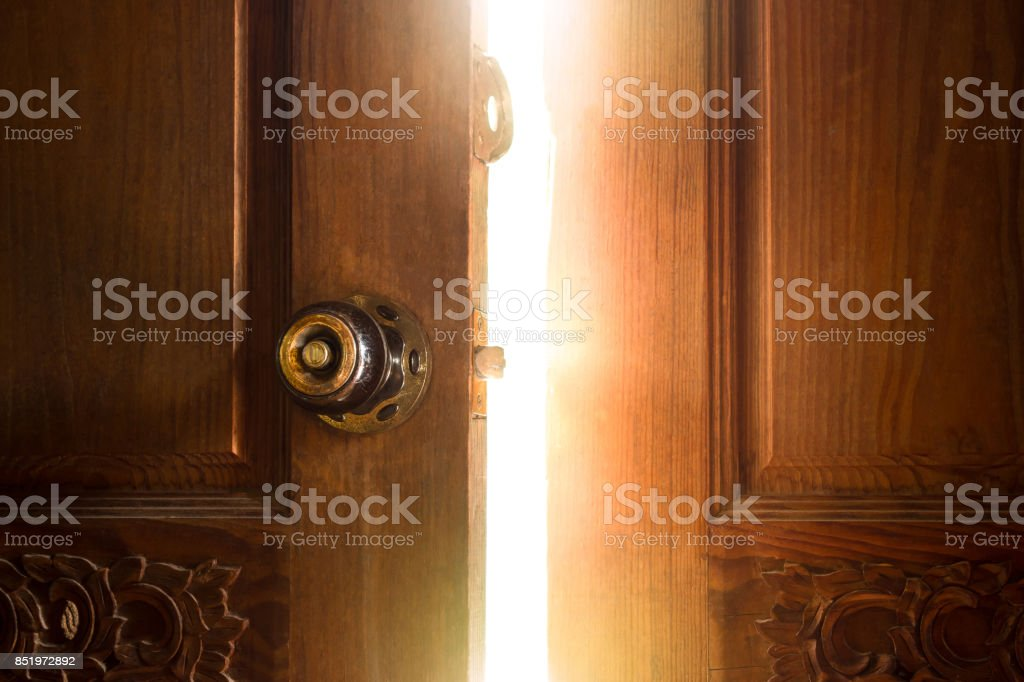 Offene Tür light Lizenzfreies stock-foto
