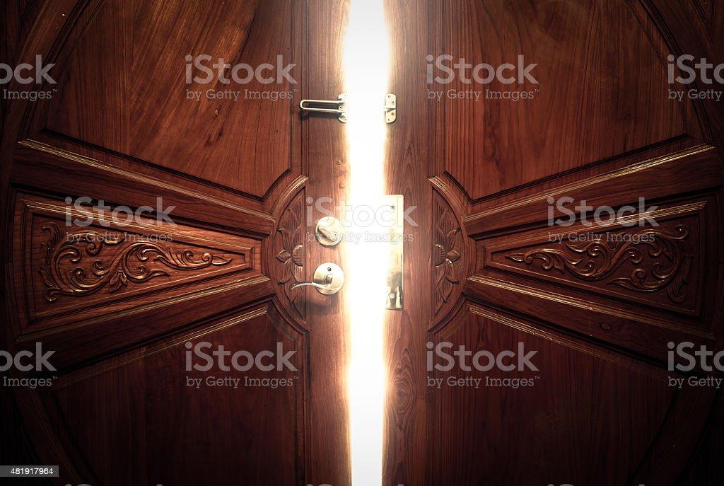 ... open door light vintage stock photo ... & Open Door Pictures Images and Stock Photos - iStock Pezcame.Com