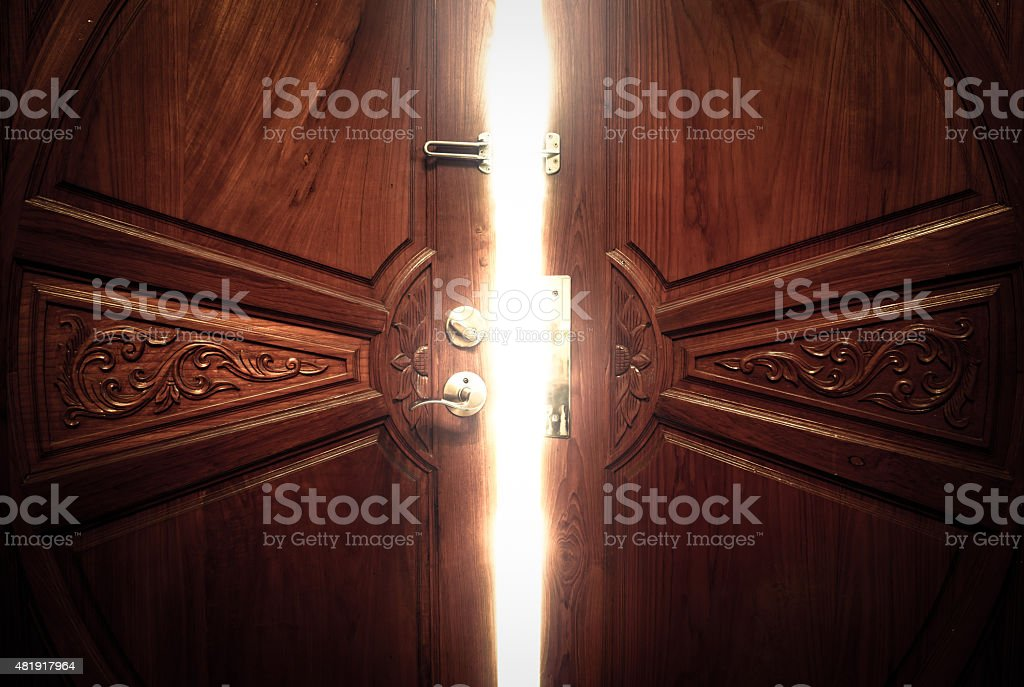 open door light vintage stock photo