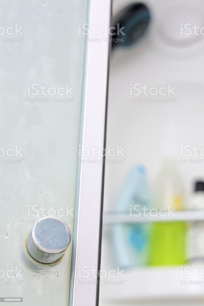 Open door of shower cubicle royalty-free stock photo