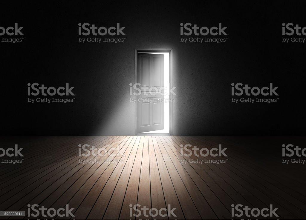 Open porta - foto de acervo