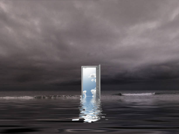 open door - illusion stock photos and pictures
