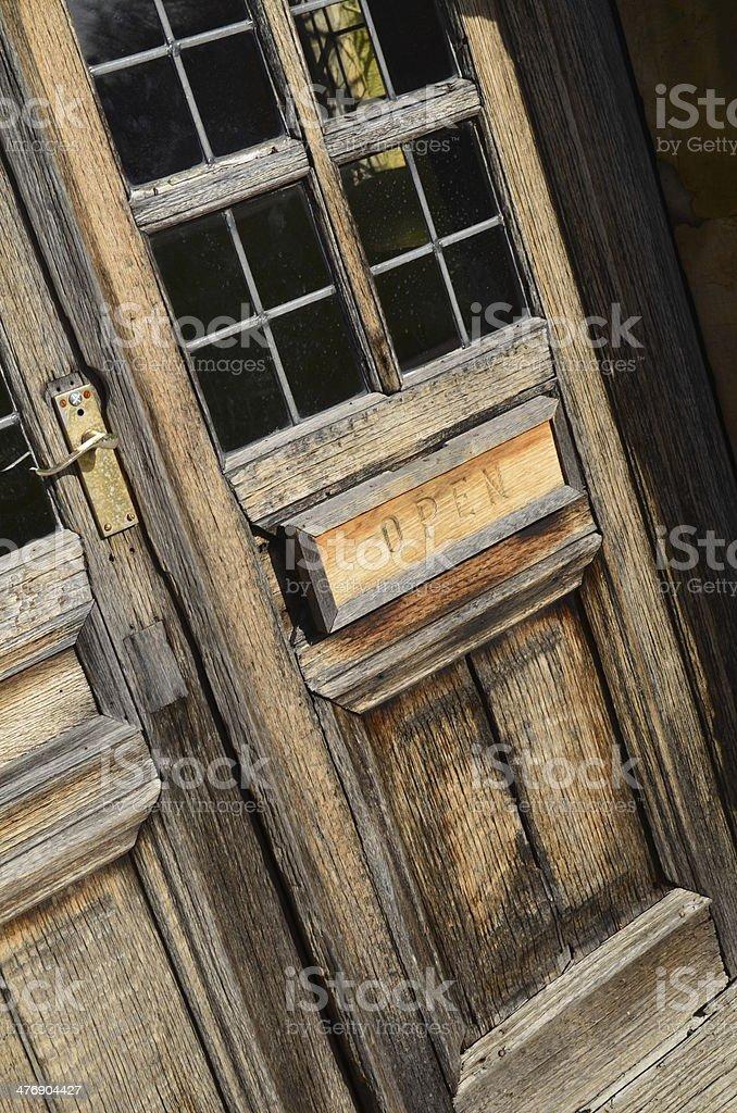 Open door sign. stock photo