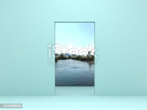 Open door to the sky/sea