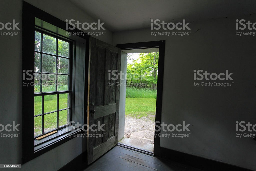 Open Door To The Way Out stock photo