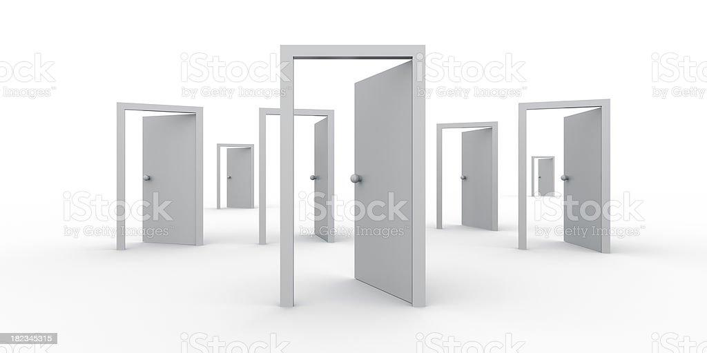 Open Doors - Find Your Way stock photo