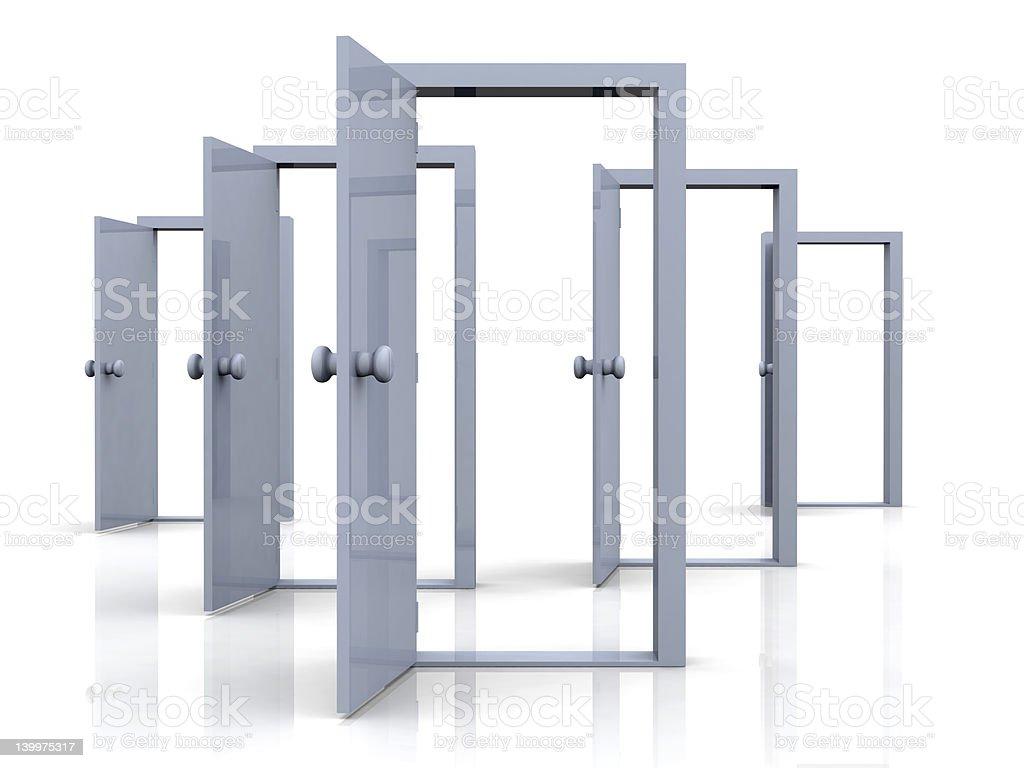 Open Doors - Possibilities royalty-free stock photo