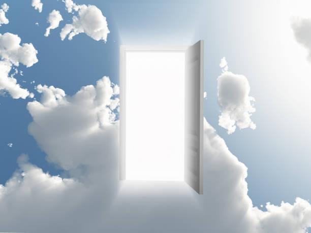 Open doorway stock photo