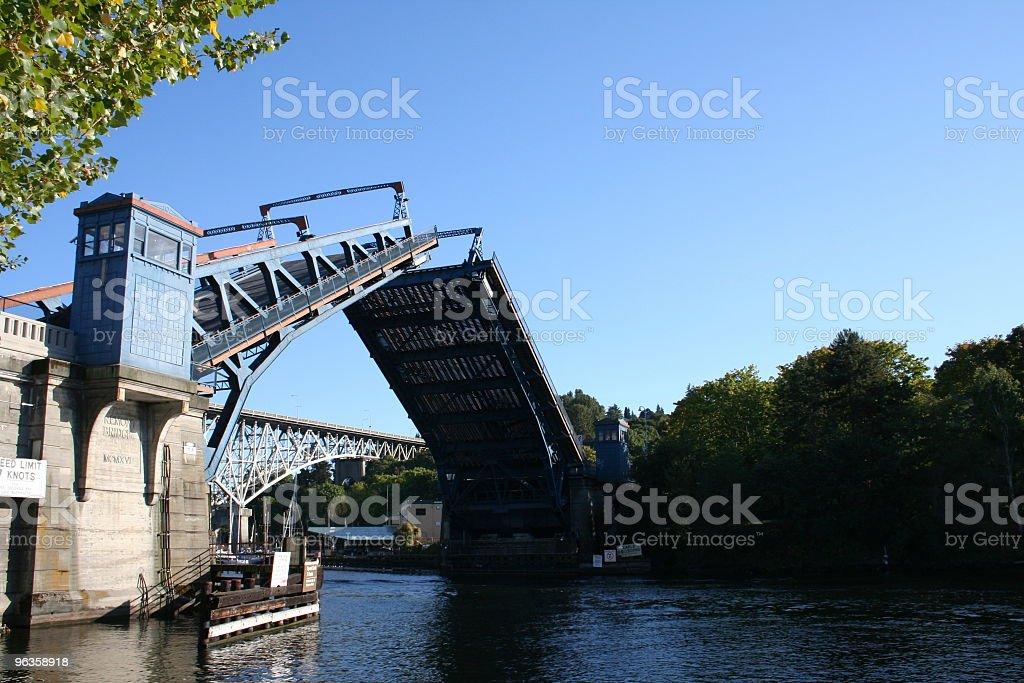 open drawbridge stock photo