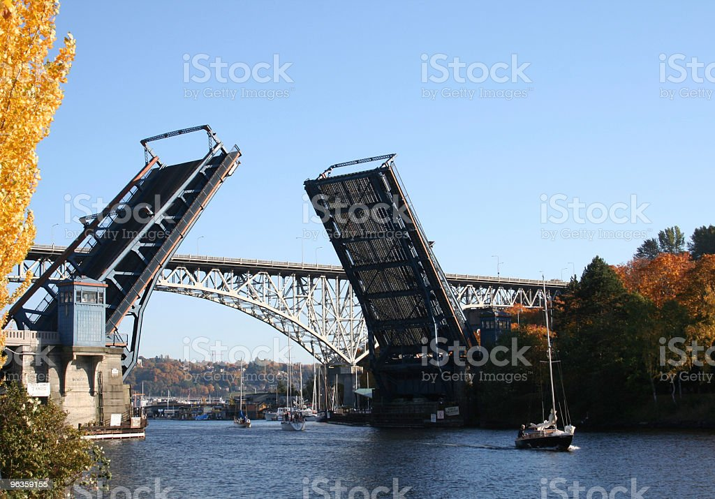 open drawbridge stock photo