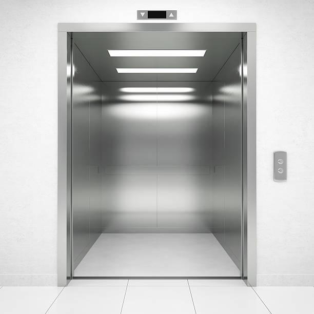 apertura porta dell'ascensore - ascensore foto e immagini stock
