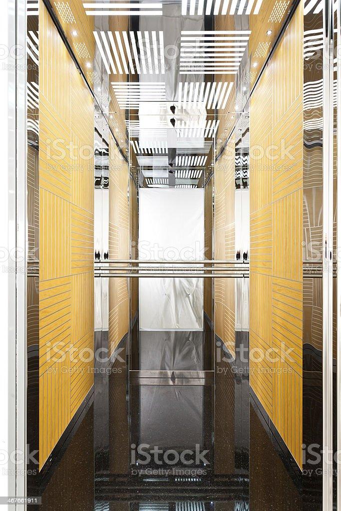 Open elevator stock photo
