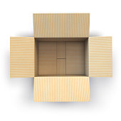 istock Open empty cardboard box Isolated on white background. 908356988