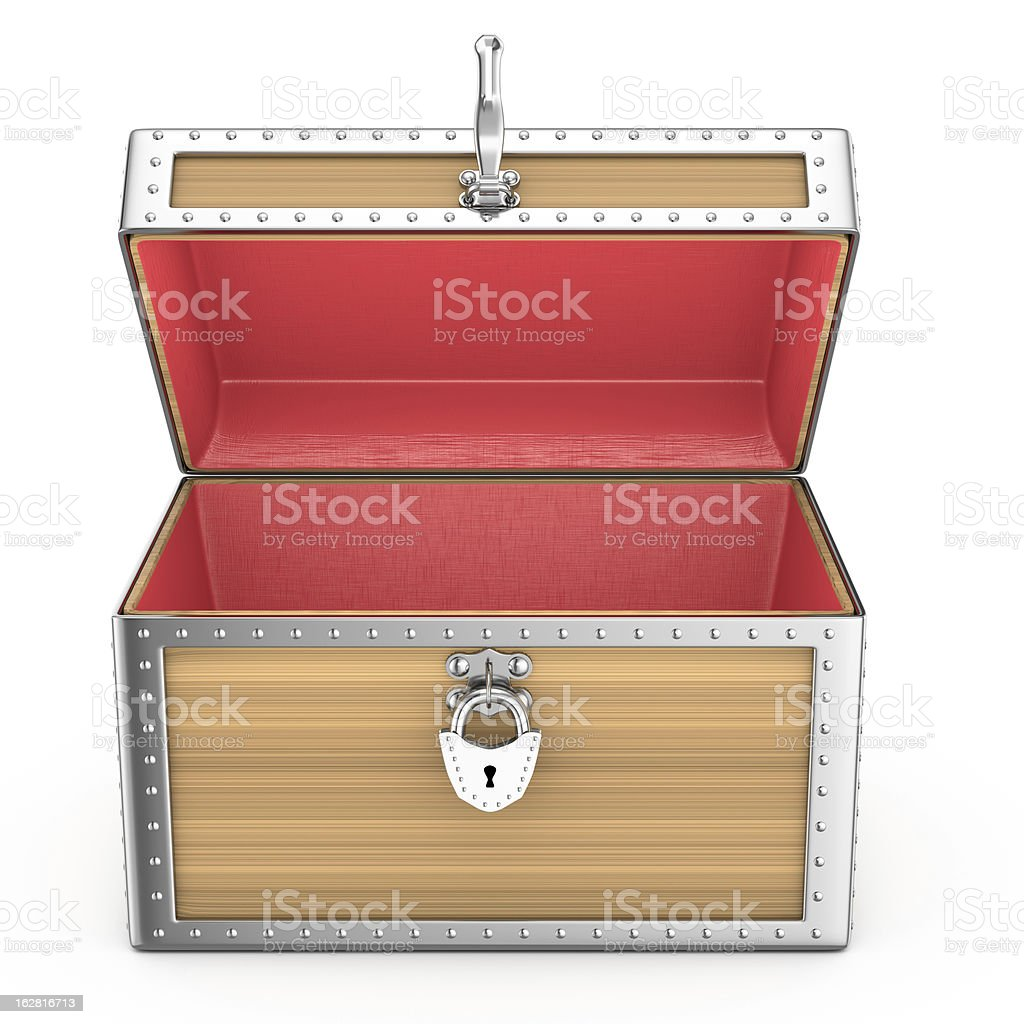 open empty chest royalty-free stock photo