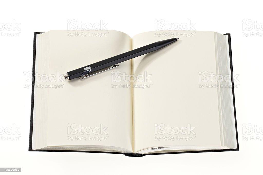 Open empty diary stock photo