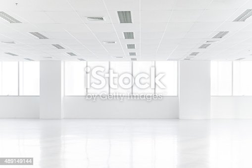 istock Open empty office space 489149144