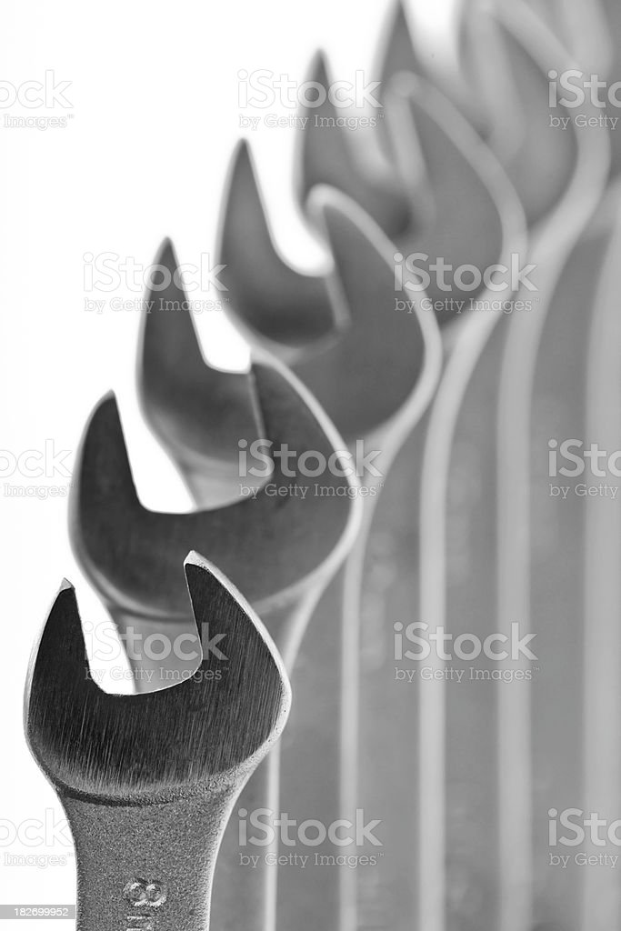 Open End Wrenches royalty-free stock photo