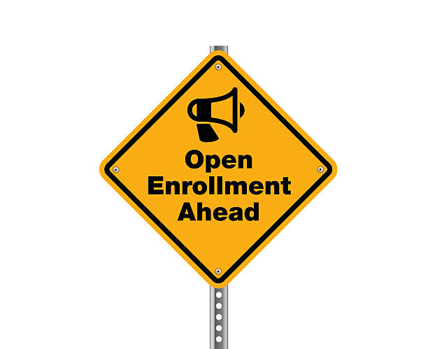 open enrollment ahead - open enrollment stock photos and pictures