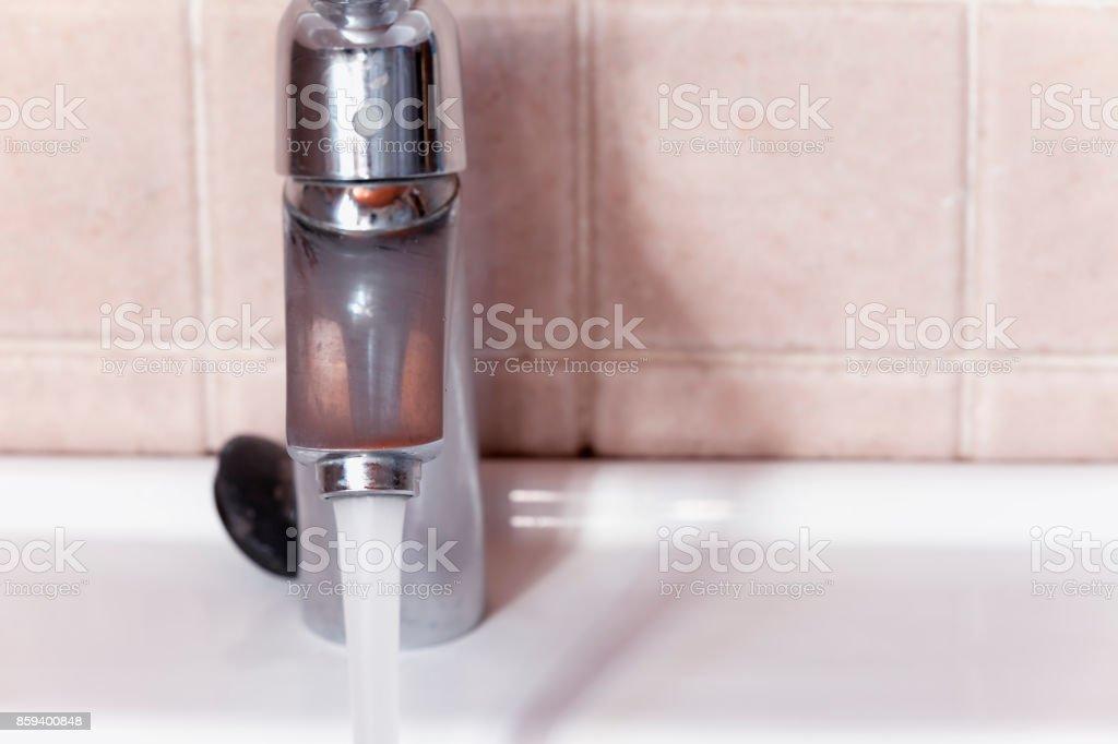 Open faucet. stock photo