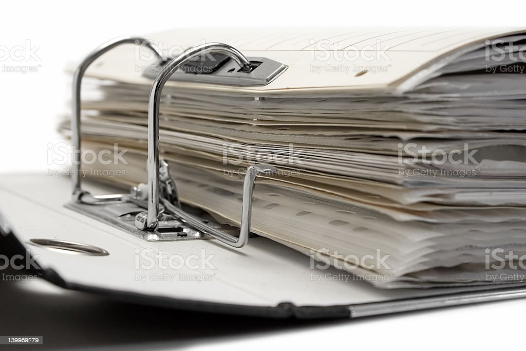 Open File Folder stock photo