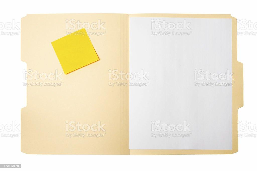 Open File Folder stock photo