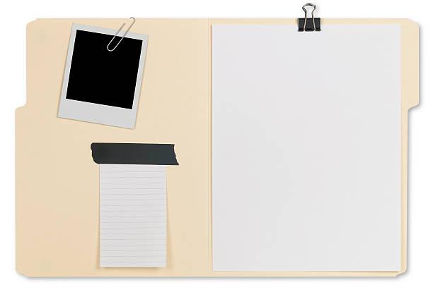 Abrir carpeta de archivo - foto de stock