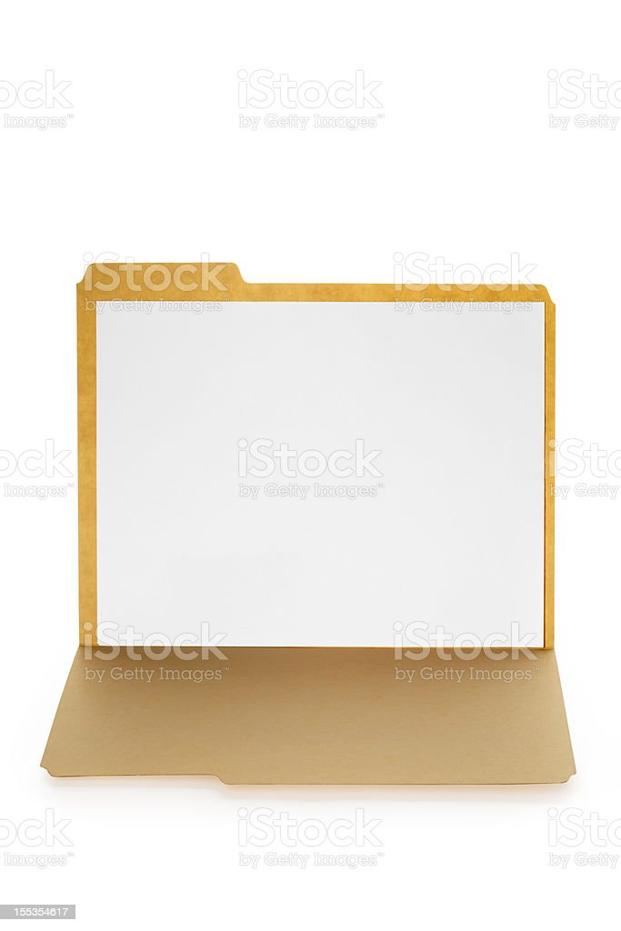Open File Folder With Blank Paper Inside royalty-free stock photo