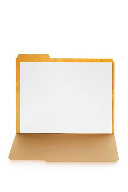 Open File Folder With Blank Paper Inside stock photo