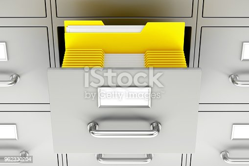 535191355 istock photo Open filing cabinet 962330204