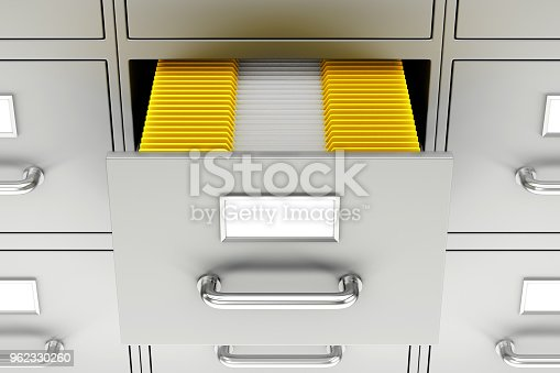 535191355 istock photo Open filing cabinet 962330260
