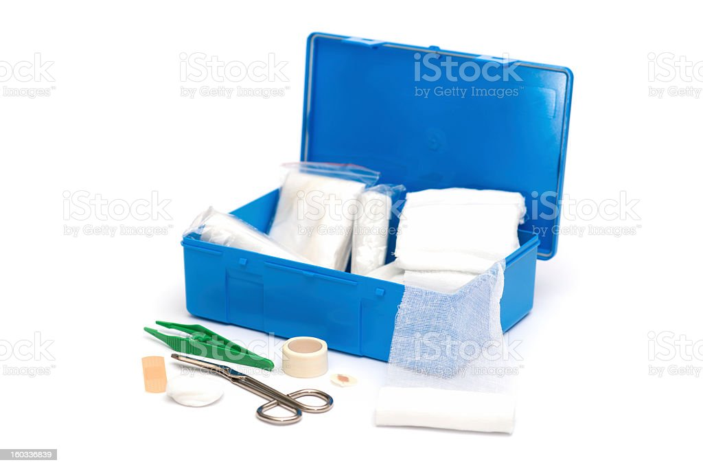 Open first aid kit royalty-free stock photo