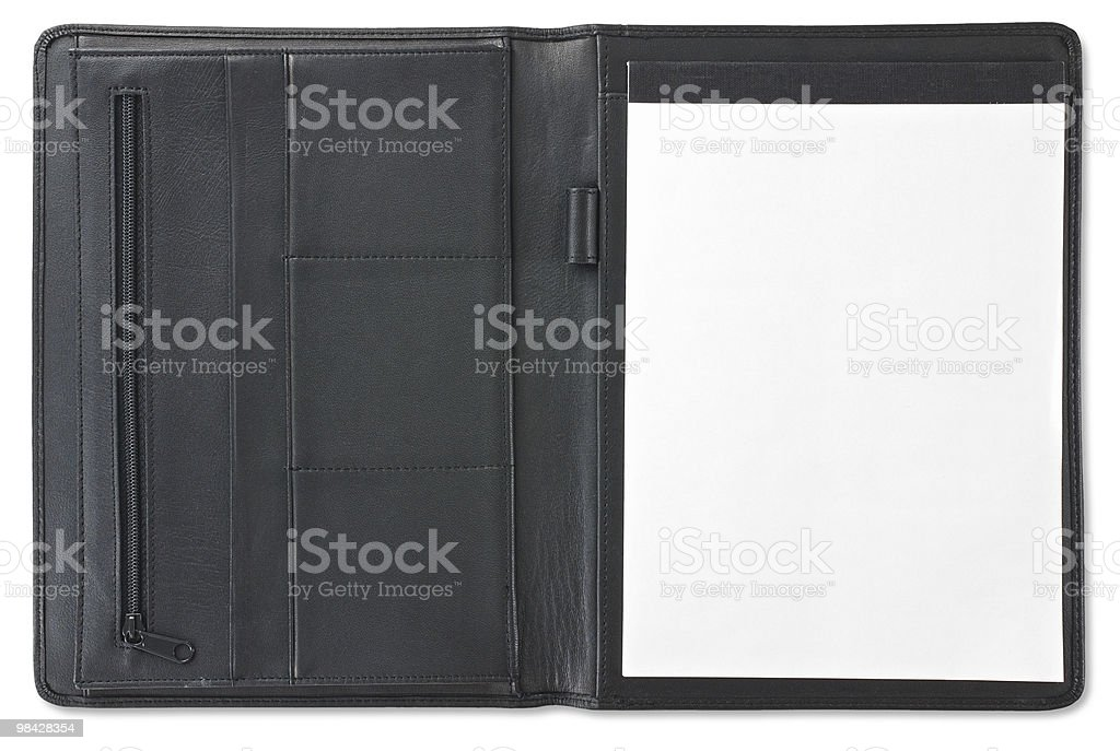 Open folfer with notebook royalty-free stock photo