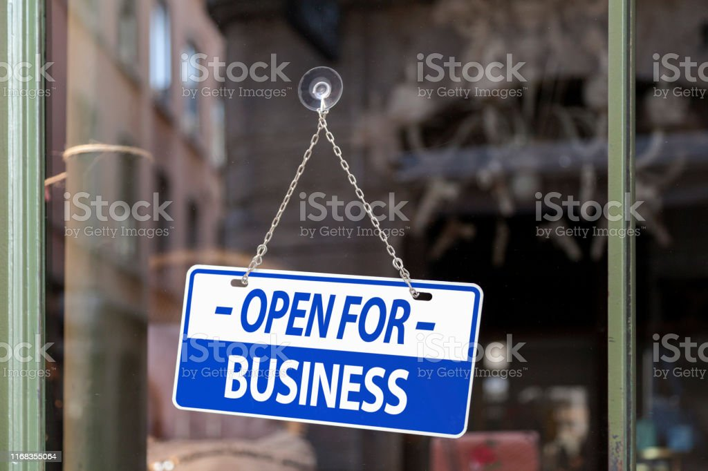 Open for business - Royalty-free Bar - Drink Establishment Stock Photo