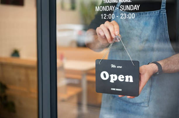 open for business - small business owner stock pictures, royalty-free photos & images