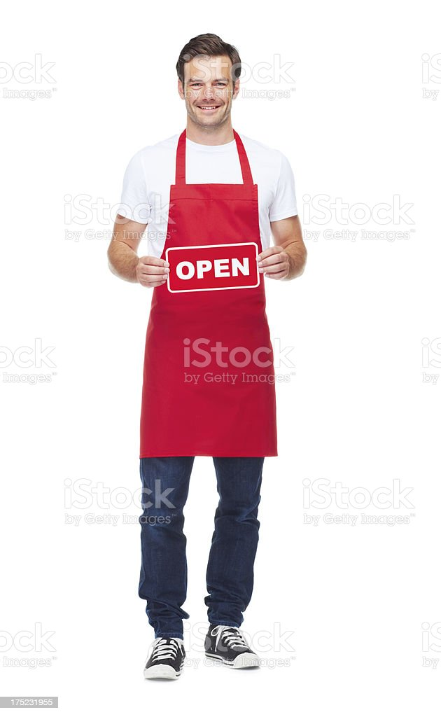 Open for business! stock photo