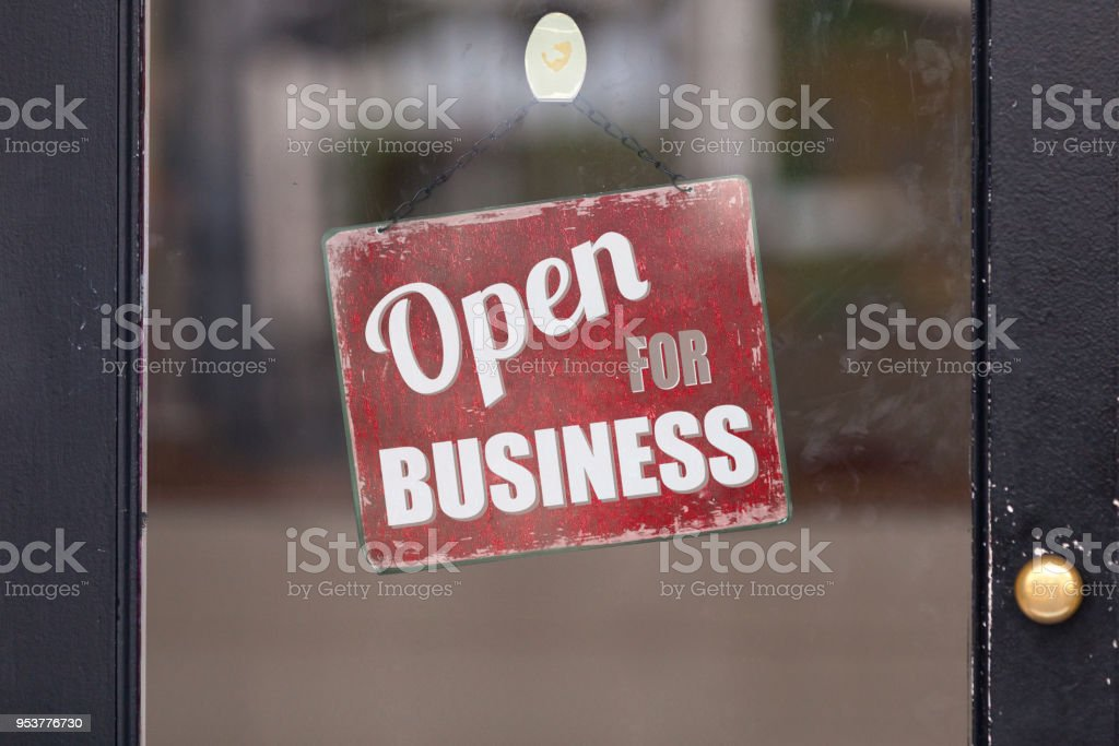\'Open for Business\'.