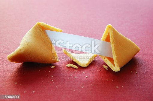 Fortune cookie with blank message.