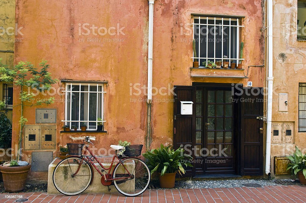 Open Front Door in Old Home. Color Image royalty-free stock photo