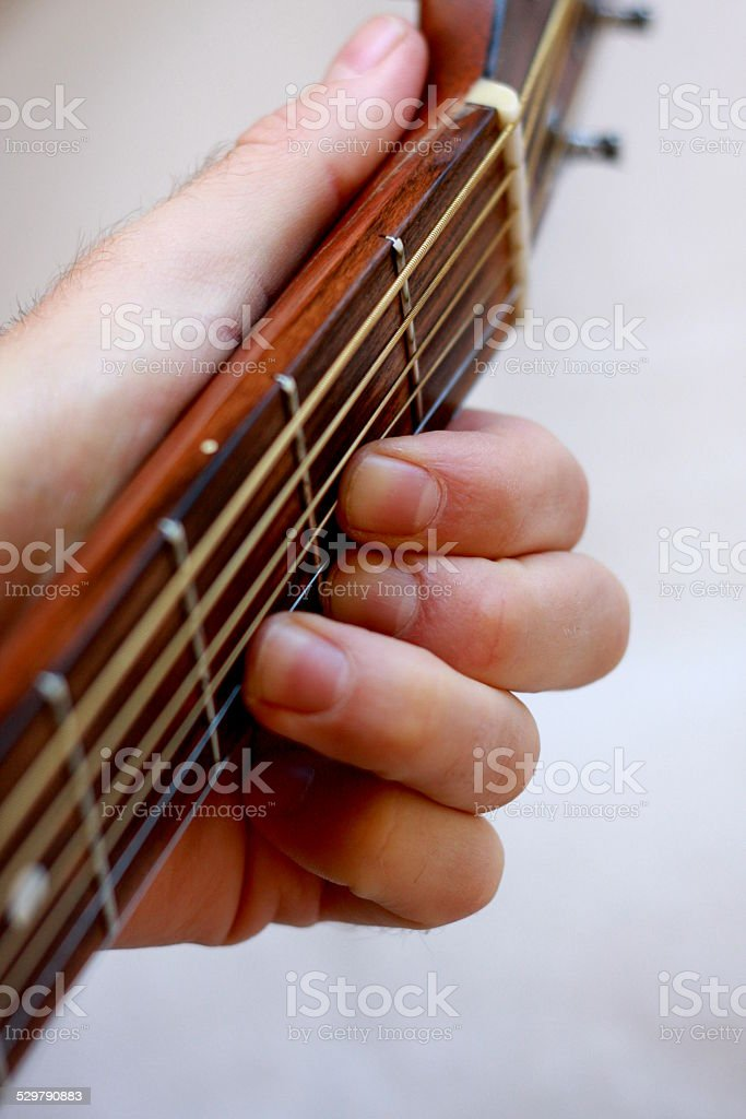 Open G Chord stock photo