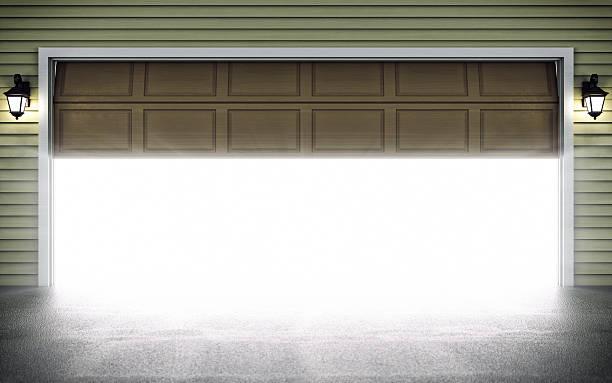 Open Garage Door stock photo