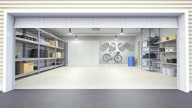 open garage interior - open stock photos and pictures