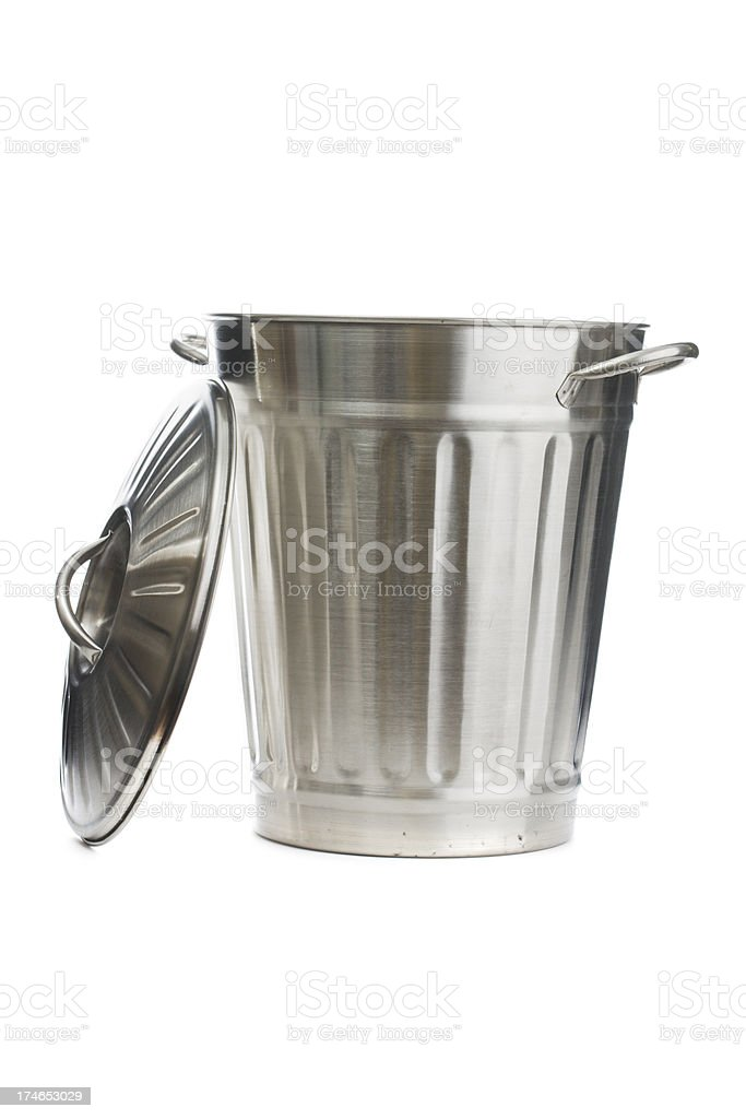 Open Garbage Can stock photo