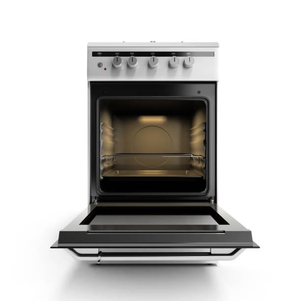 open gas stove 3d render isolated on a white background open gas stove 3d render isolated on a white background oven stock pictures, royalty-free photos & images