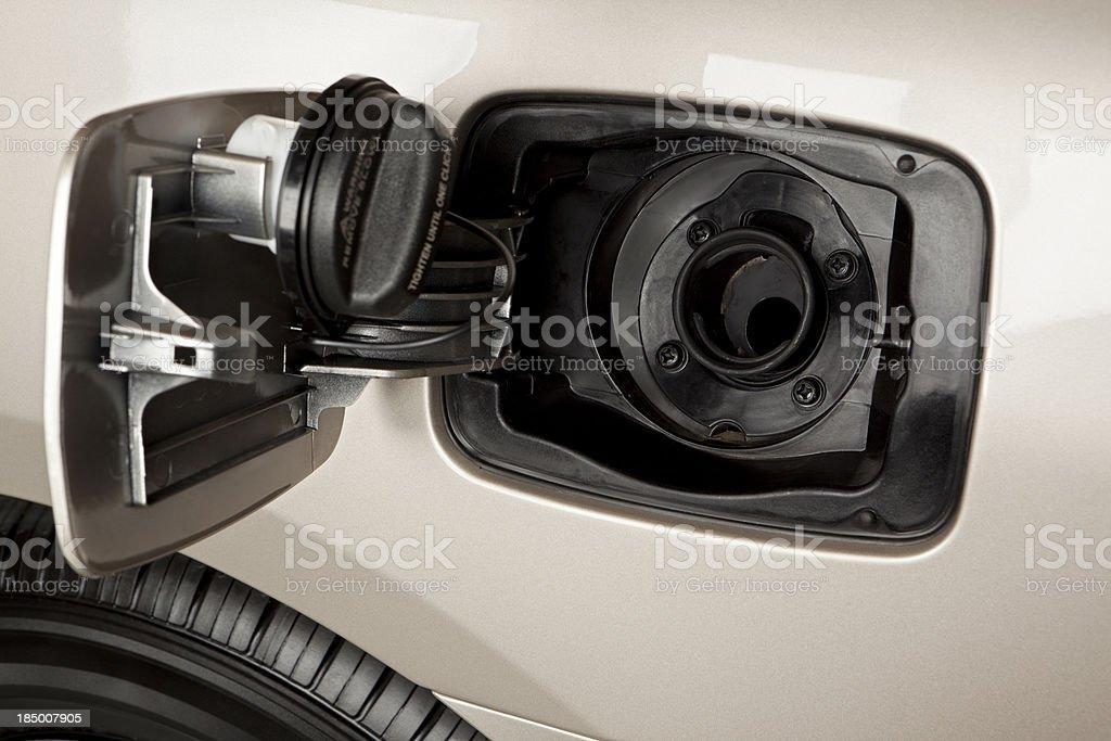 Open Gas Tank royalty-free stock photo