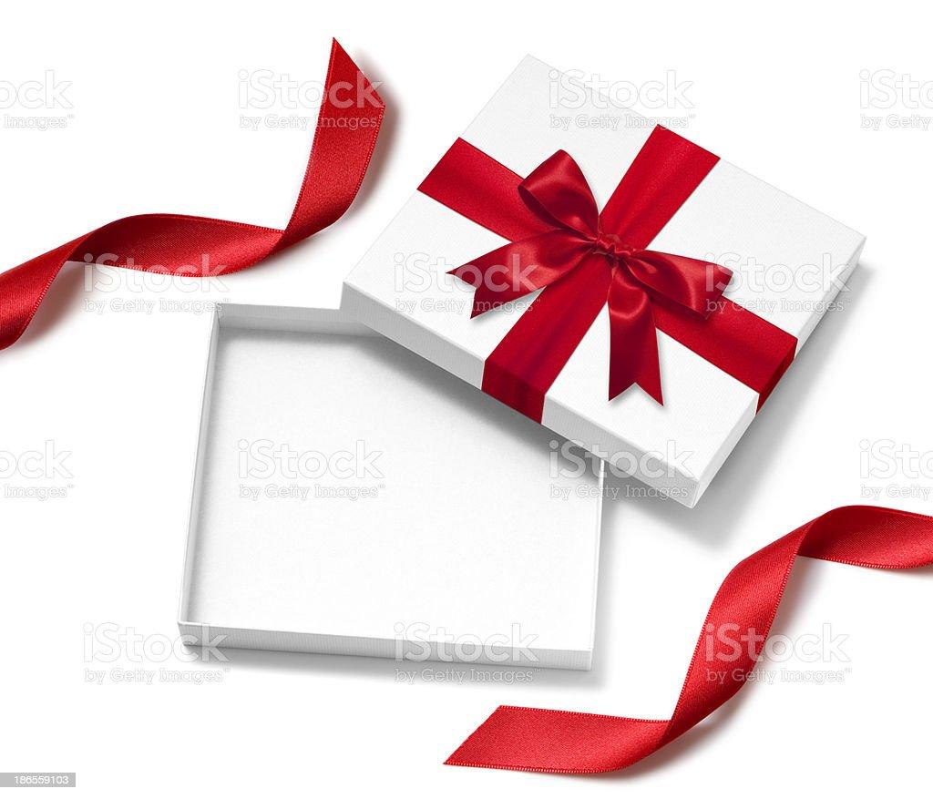 Abrir caixa de presente - foto de acervo