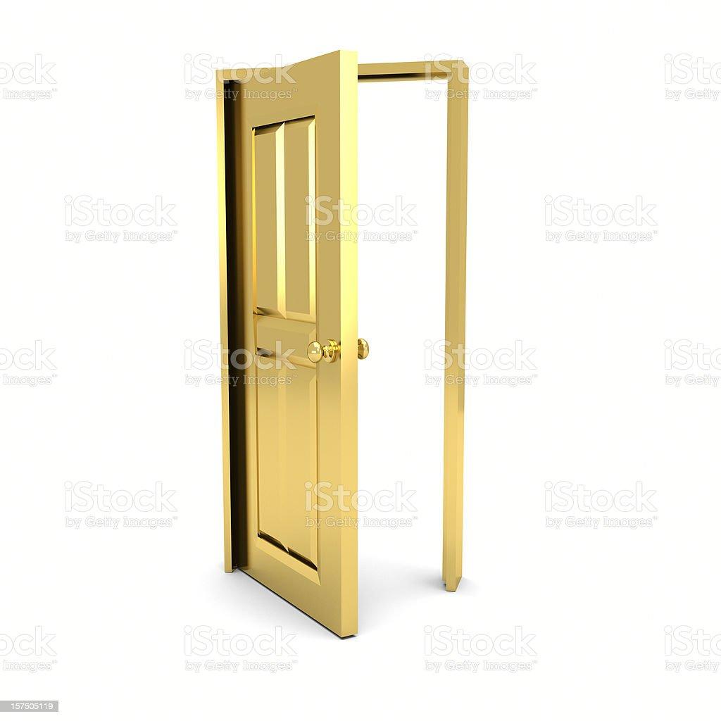 Open Golden Door stock photo