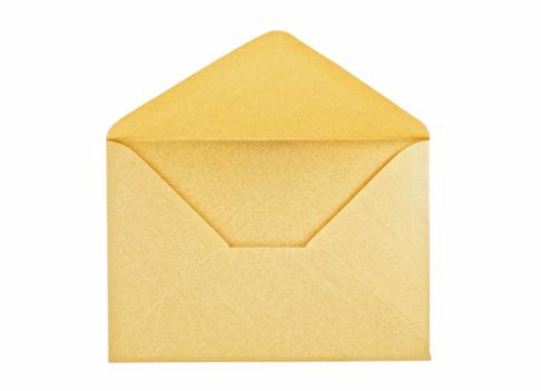 Open Golden Envelope Stock Photo - Download Image Now - iStock