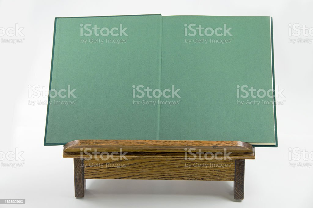 Open Green  Book with Copy stock photo